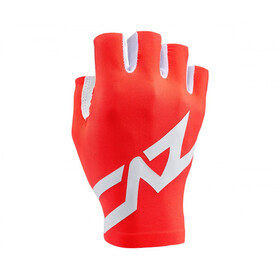 Supacaz SupaG Twisted Short Finger Gloves, neon red